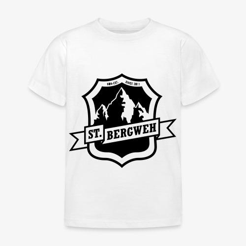 St. Bergweh Logo einfarbig - Kinder T-Shirt