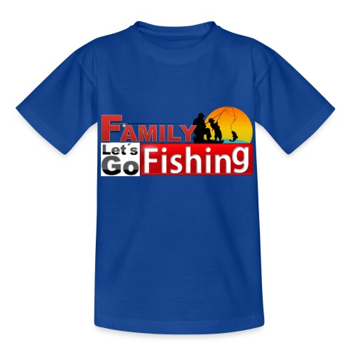 FAMILY LET´S GO FISHING FONDO - Camiseta niño