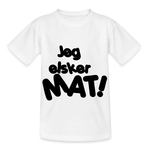 Jeg elsker mat - T-skjorte for barn