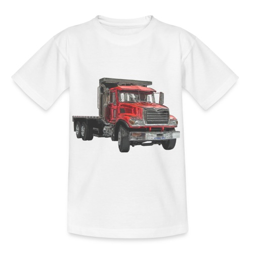 Flat Truck 3-axle - Red - Kids' T-Shirt