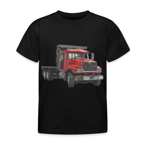 Flat Truck 3-axle - Red - Kids' T-Shirt