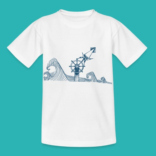 Carta_timone_blu-png - Maglietta per bambini