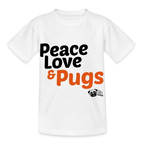 Peace Love and Pugs - T-shirt Enfant
