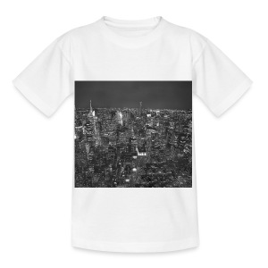 Manhattan at night - Børne-T-shirt
