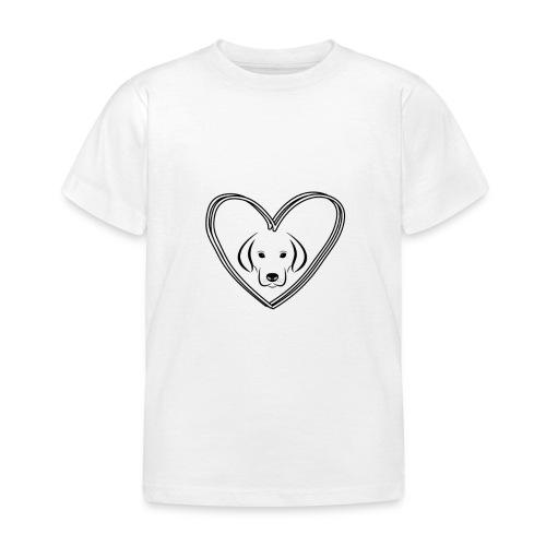 Hunde Liebe Klamotten - Kinder T-Shirt