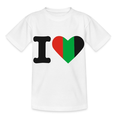 hartjeroodzwartgroen - Kinderen T-shirt