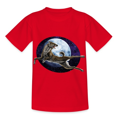 Galaxy Wolf - Kinder T-Shirt