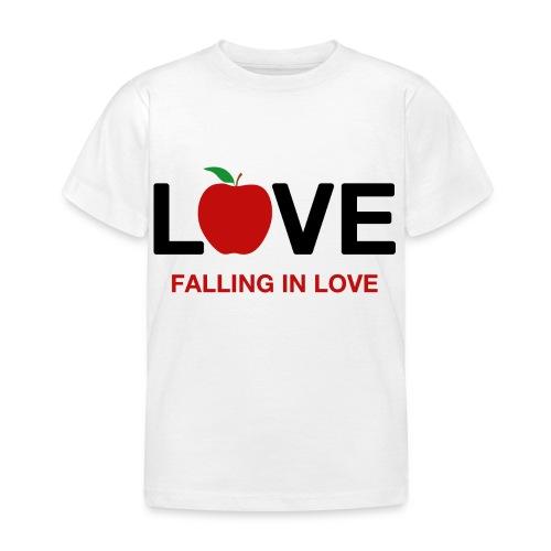 Falling in Love - Black - Kids' T-Shirt
