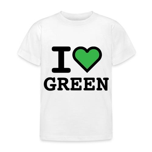 i-love-green-2.png - Maglietta per bambini