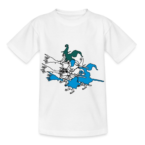 Witches on broomsticks Men's T-Shirt - Kids' T-Shirt