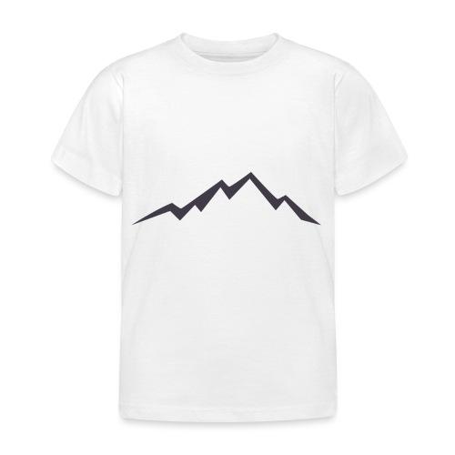 swiss alps clipart sihllouette ski mountains - Kinderen T-shirt