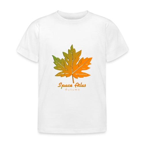 Space Atlas Long Sleeve T-shirt Autumn Leaves - Børne-T-shirt