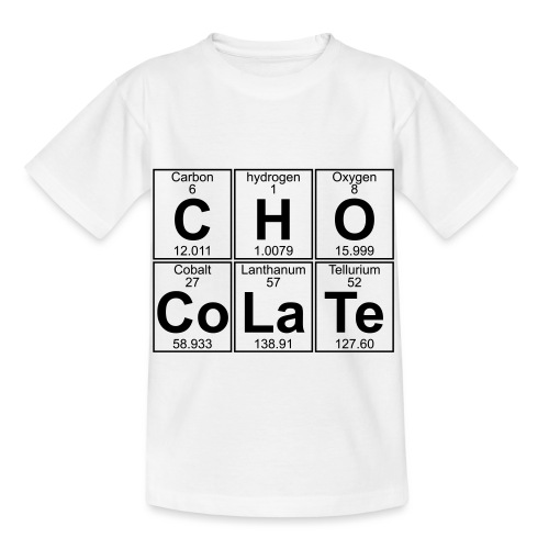 C-H-O-Co-La-Te (chocolate) - Full - Kids' T-Shirt