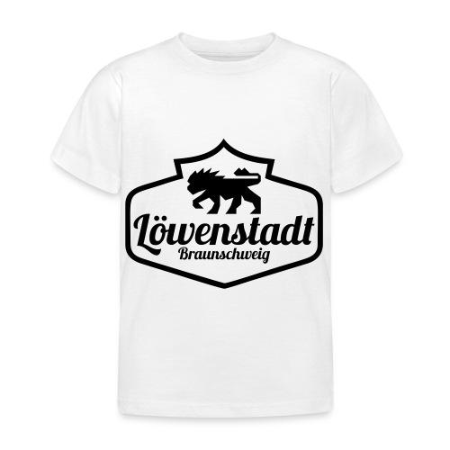 Löwenstadt Design 1 schwarz - Kinder T-Shirt