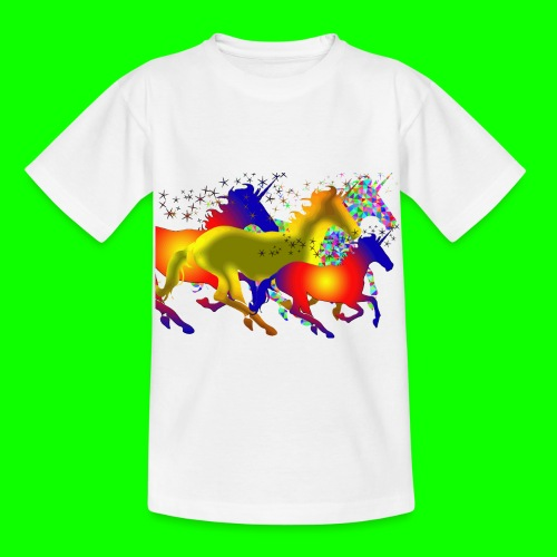 unicorn horses - T-shirt barn