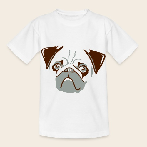 otiz mops kopf 2farbig - Kinder T-Shirt
