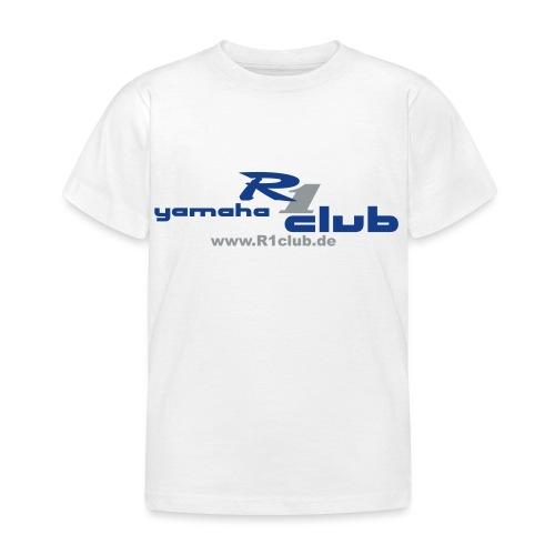 R1club Logo blau - Kinder T-Shirt