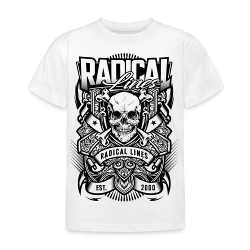 SKULL DESIGN RADICAL LINE WHITE BGbigger png - T-shirt barn