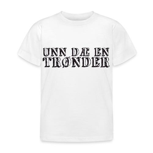 unndae - T-skjorte for barn