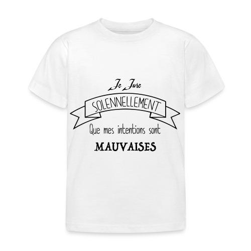 Je jure solennellement - T-shirt Enfant