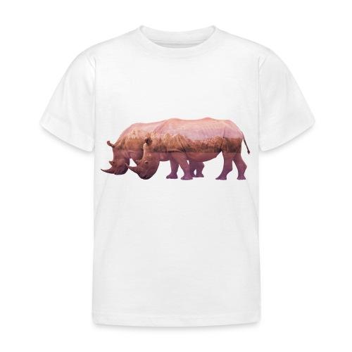 Nashorn Alpen - Kinder T-Shirt