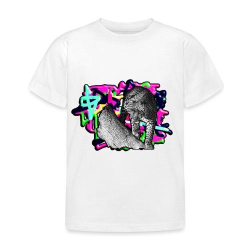 Leopard auf Bunt - Kinder T-Shirt