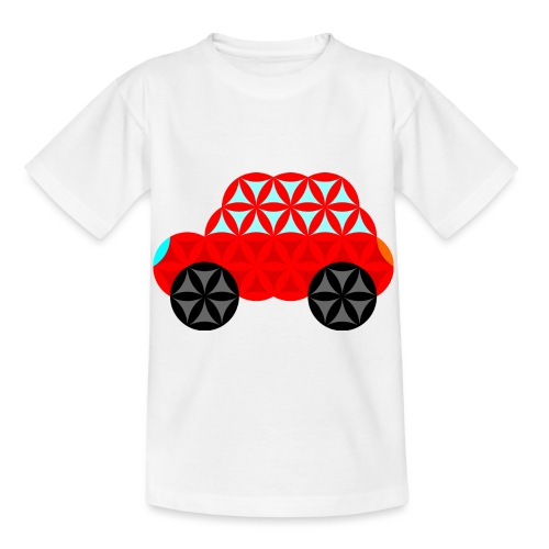 The Car Of Life - M01, Sacred Shapes, Red/R01. - Kids' T-Shirt