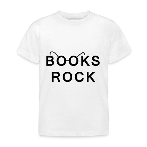 Books Rock Black - Kids' T-Shirt