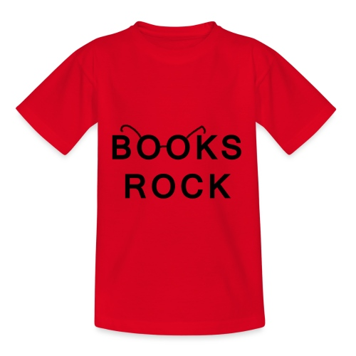 Books Rock Black - Kids' T-Shirt