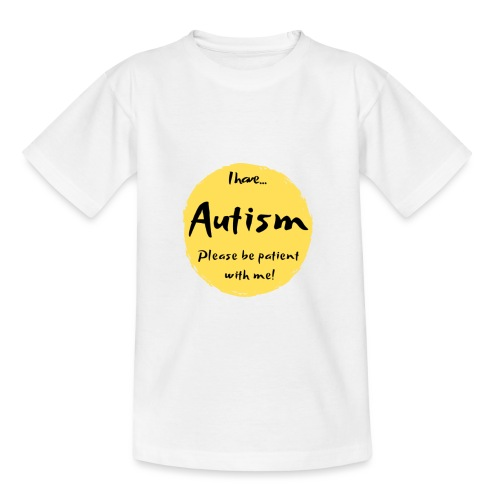 I have autism, please be patient with me! - Kids' T-Shirt