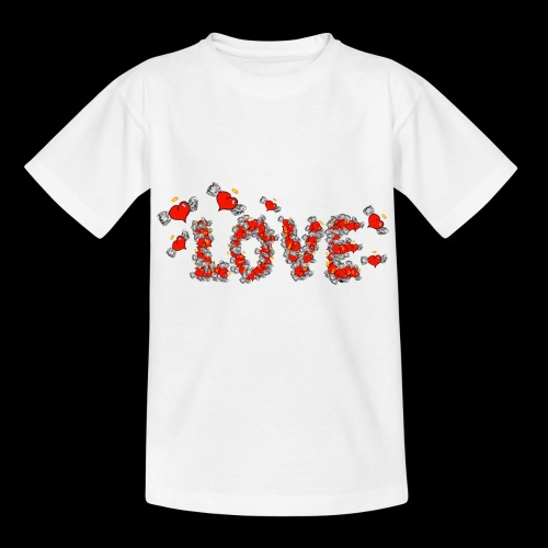 Flying Hearts LOVE - Kids' T-Shirt