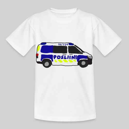 Posliini-Auto - Lasten t-paita