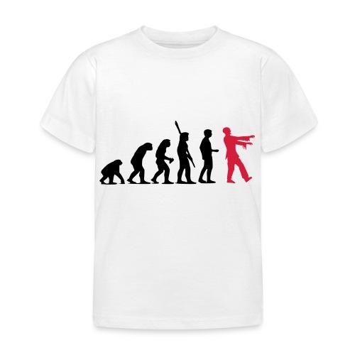 Zombie Evolution (zweifarbig) - Kinder T-Shirt