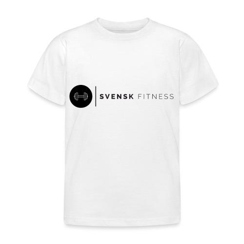 Svart logo vertikal dam - T-shirt barn