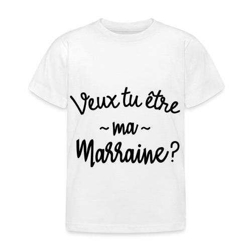 Veux tu être ma marraine? bébé cadeau naissance - T-shirt Enfant