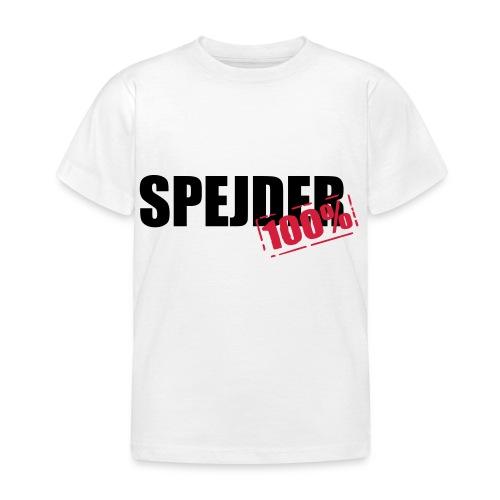 100procent spejder stempel - Børne-T-shirt