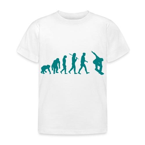 evolution_of_snowboarding - Kinderen T-shirt
