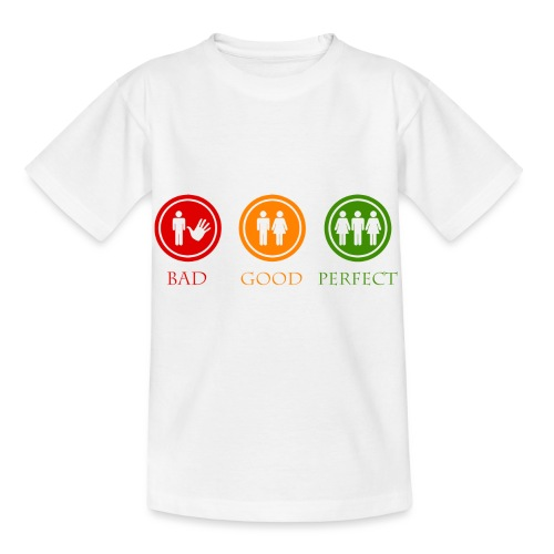 Bad good perfect - Threesome (adult humor) - Kinderen T-shirt