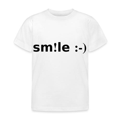 smile - sorridi - Maglietta per bambini