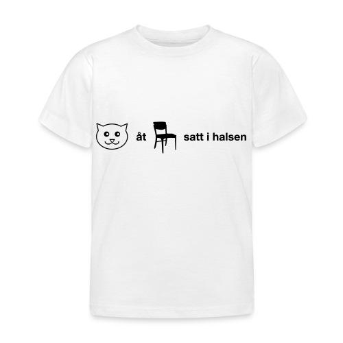 Katt åt stol - T-shirt barn