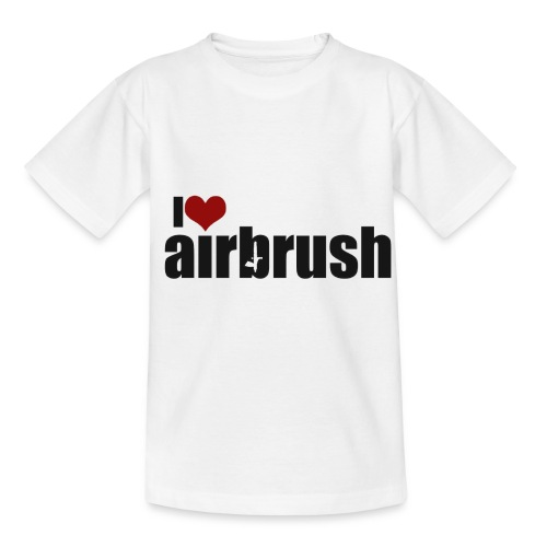 I Love airbrush - Kinder T-Shirt
