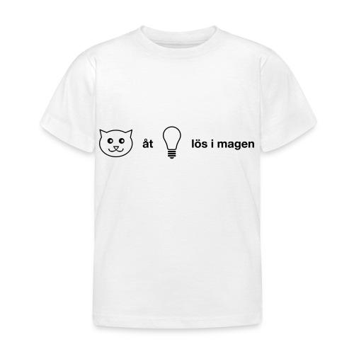 Katt åt lampa - T-shirt barn