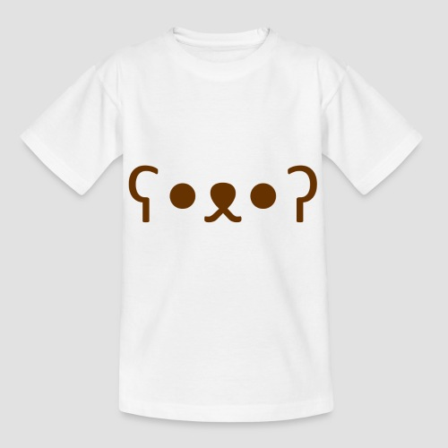 Kuma Kaomoji (Marron) - T-shirt Enfant