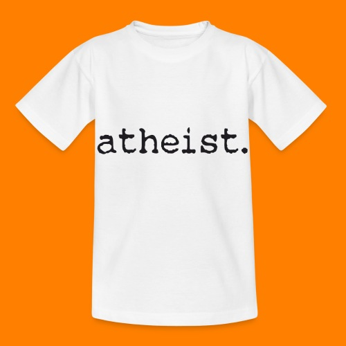 atheist BLACK - Kids' T-Shirt