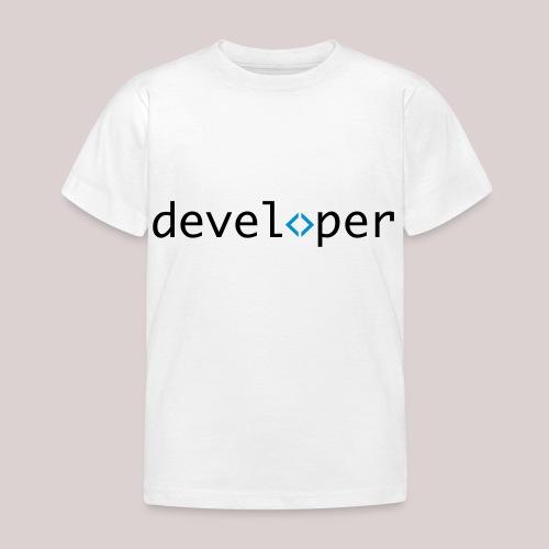 developer, coder, geek, hipster, nerd - Kinder T-Shirt