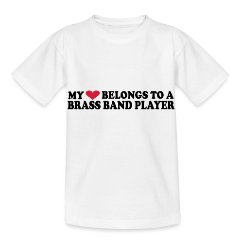 MY HEART BELONGS TO A BRASS BAND PLAYER - T-skjorte for barn