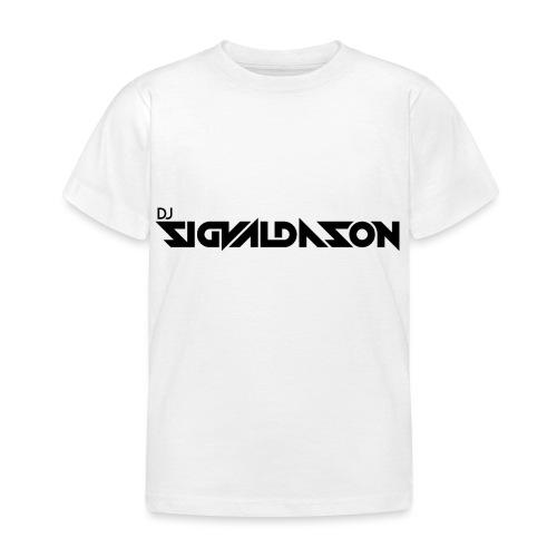 DJ logo sort - Børne-T-shirt
