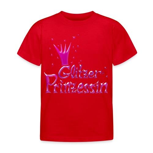 Rosa Glitzer Prinzessin - Kinder T-Shirt