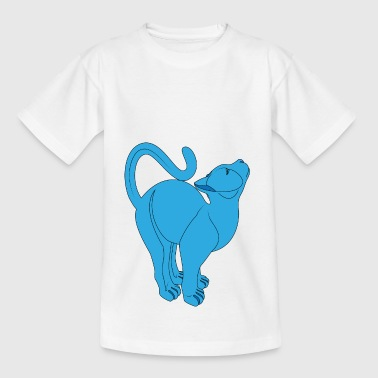 blue cat - T-shirt barn