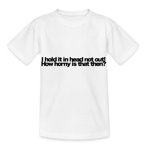 i hold it in head not out black 2020 - Kinder T-Shirt